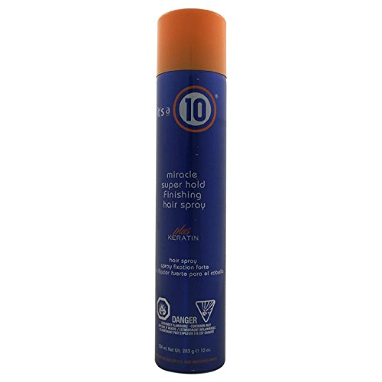 by It's a 10 MIRACLE SUPER HOLD FINISHING SPRAY PLUS KERATIN 10 OZ by ITS A 10