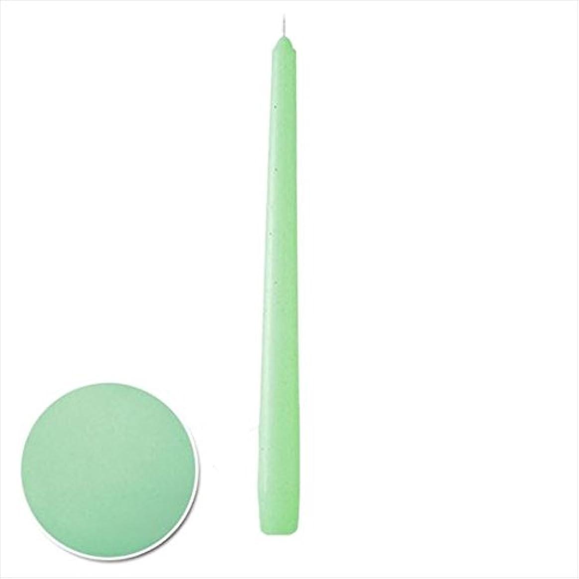 解釈エレメンタル鋸歯状カメヤマキャンドル( kameyama candle ) 12インチテーパー 「 ミント 」 12本入り