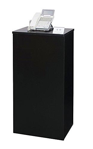 電話台 W450×D380×H900 シンプル インフォメーションカウンター TEL9045 (BK:ブラック)