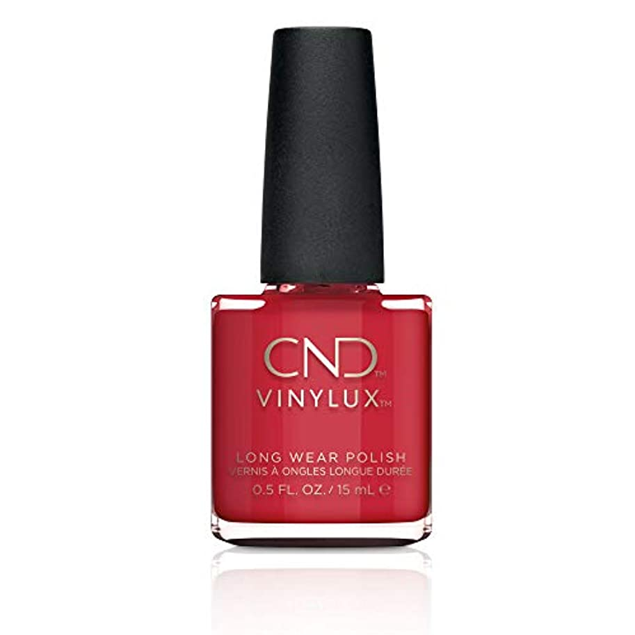 テロベジタリアン上記の頭と肩CND Vinylux Weekly Polish Colore 143 Rouge Red 15ml