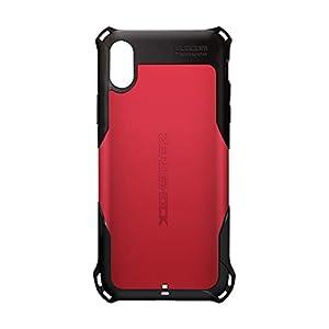 エレコム iPhone Xs ケース 衝撃吸収 ZEROSHOCK スタンダード 衝撃吸収フィルム付き 【落下時の衝撃から本体を守る】 iPhone X対応 レッド PM-A18BZERORD