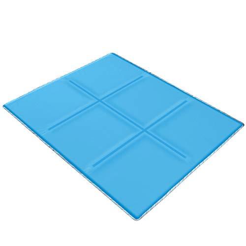 GENERAL ARMOR ひんやりクールマット 快適ベッドパッド ひんやりマットシーツ 冷却マット枕 ジェルクールパッド 涼感冷感シーツ 手触り滑らか爽快 敷きパッド 接触冷感 快眠シーツ ブルー (ブルー, 70X80CM)