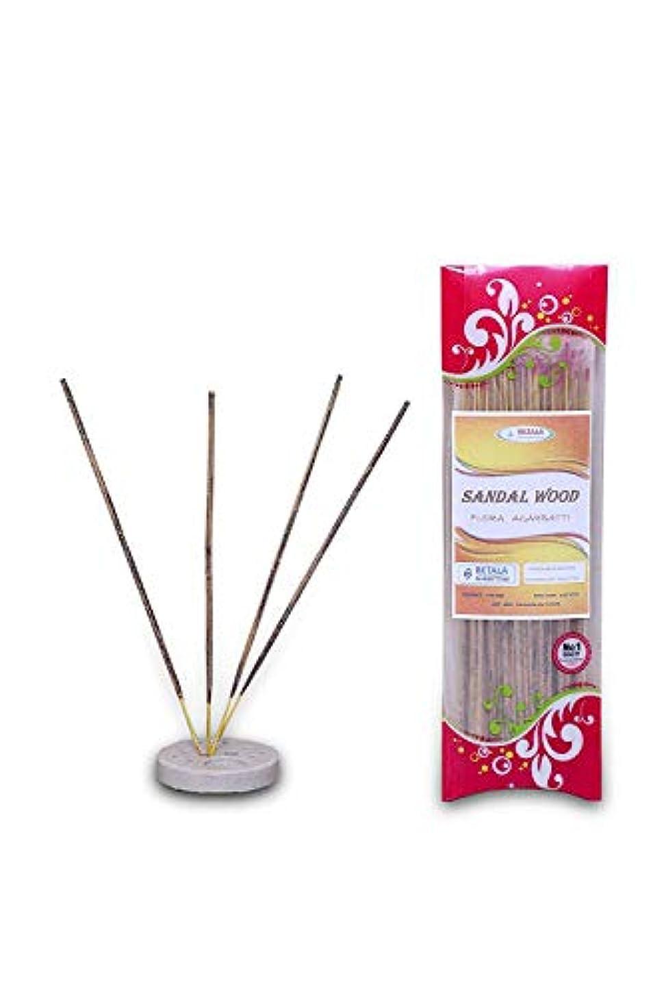 破滅ピービッシュ遺伝子BETALA FRAGRANCE SANDALWOOD Flavour Flora Incense Stick Pack of 100 GM (Chandan Masala Agarbatti)
