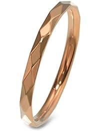 [ルビイ] ステンレス アーガイルカット 指輪(リング) 幅2.0mm ピンクゴールド 日本サイズ14号