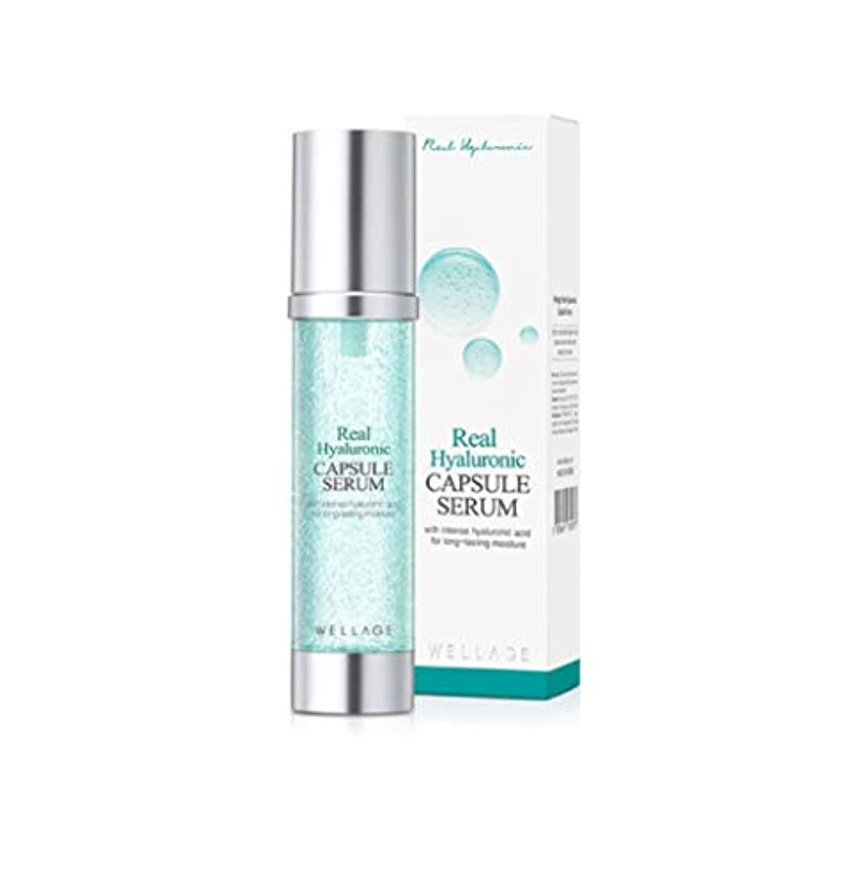 WELLAGE(ウェラージュ) リアルヒアルロン酸カプセル血清 50ml / Real Hyaluronic Capsule Serum (Korea Beautyの持続的な水分補給)