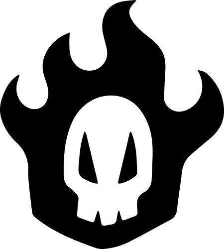 アニメBleach Rukiaスカル(Set of 2) プレミアム防水ビニールデカールステッカーforノートパソコンMacbookタブレット電話車ヘルメットウィンドウバンパーMug Tuber Cupドア壁装飾 3.8'' x 4.2'' ブラック ANG-93