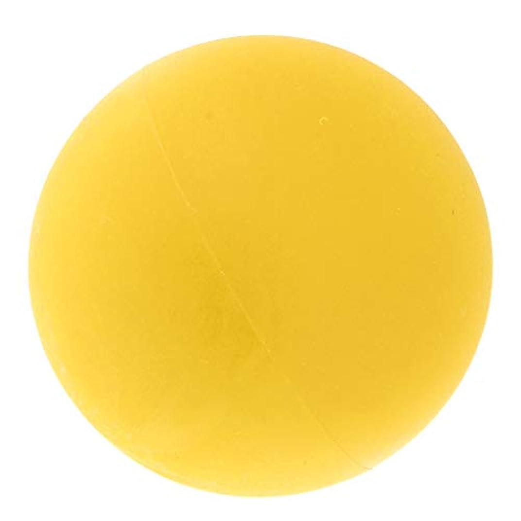 振動させる不従順万歳マッサージボール ヨガボール トリガーポイント 筋膜リリース 緊張緩和 健康グッズ 全4色 - 黄