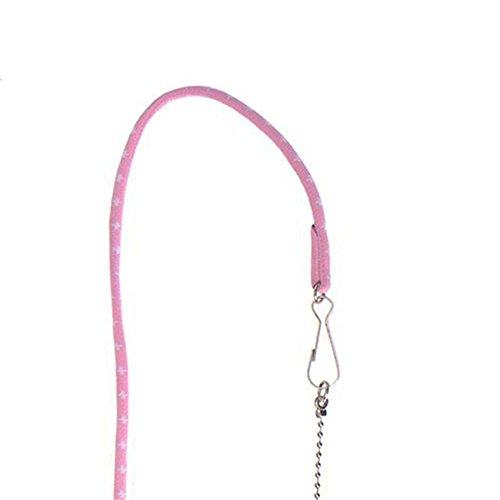 (サンライン)Sun Line ハーネス&リード 小動物 ハムスター 牽引ロープ 調節可能 お散歩 お出かけ用 (ピンク)