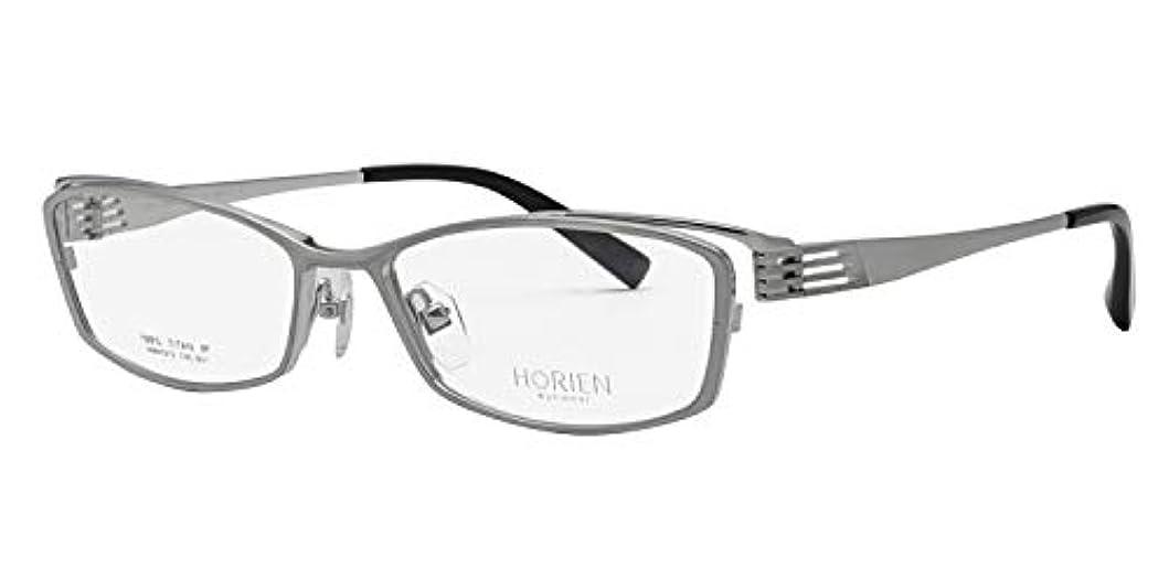 鯖江ワークス(SABAE WORKS) 遠近両用メガネ 格好いい ワイド スクエア チタン HR7072 遠用度なし 度数+2.50