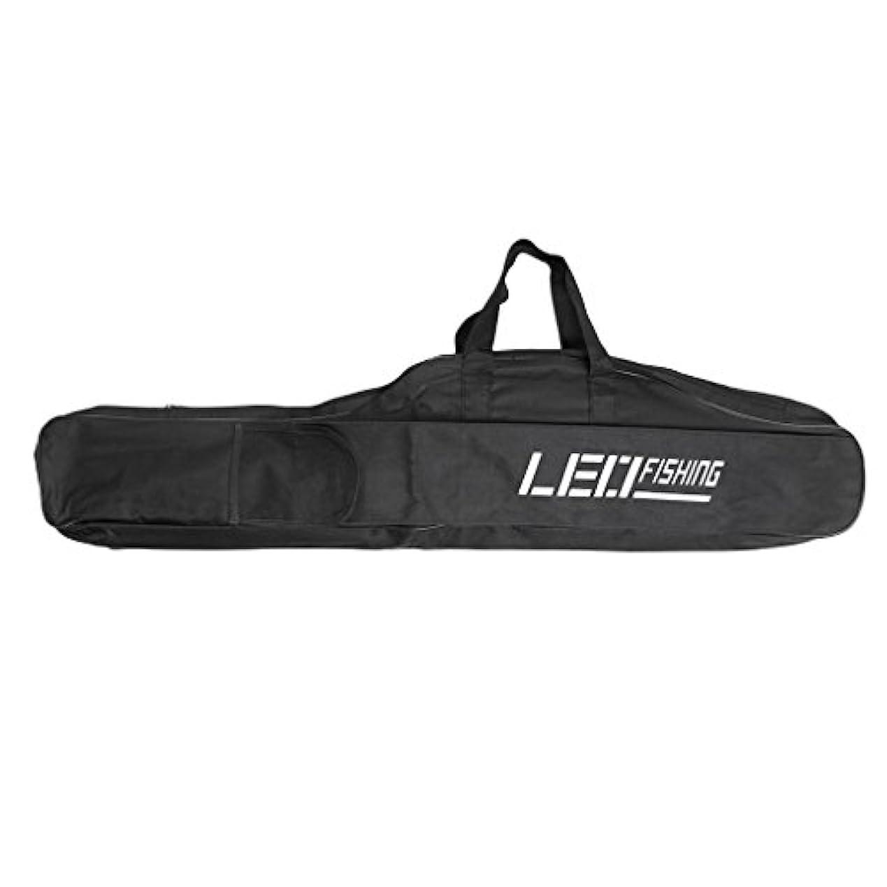 代替案符号うがいBaoblaze ロッドケース ロッドバッグ 釣竿ポッチ 肩掛け ジッパー式 大容量 420D 防水 ブラック 全2サイズ