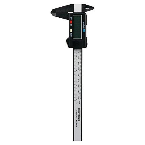 DIY 工具 デジタルノギス カーボンファイバー 150mm 電池付 軽量 コンパクト 測定 作業 大工