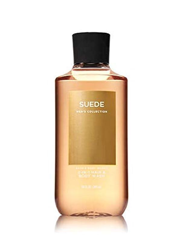 アーチ干し草とにかく【並行輸入品】Bath & Body Works Suede 2-in-1 Hair + Body Wash 295 mL