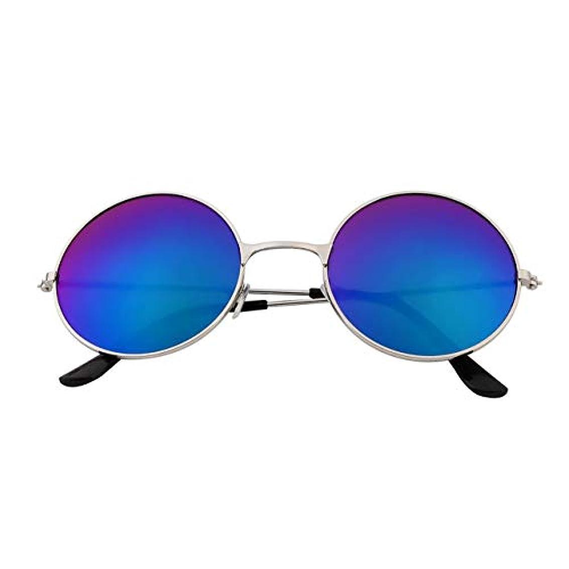 高尚なぬるい合理化DeeploveUU UV400ヴィンテージ女性男性品質カラフルなミラーレンズラウンドメガネ丈夫なアルミフレームUV400保護サングラス