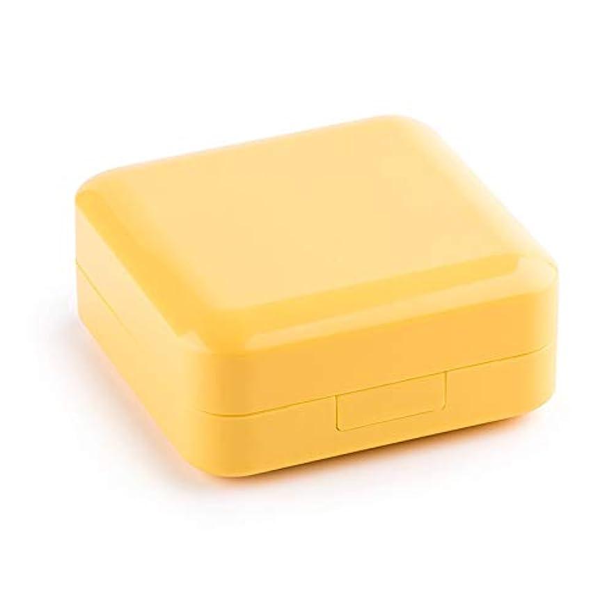 服ハプニングずっと薬箱の密封された防湿サブボックスピルピル分割された耐光キットの週とミニポータブル小さなピルボックス 薬箱 (Color : Yellow, Size : 7.6cm×7.6cm×3.5cm)