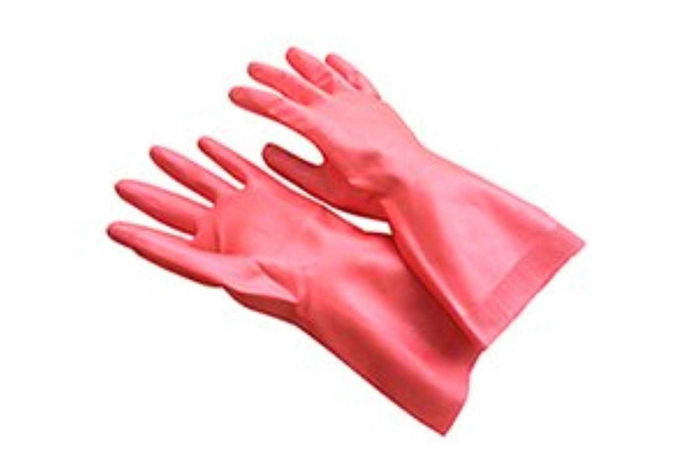する必要がある平均ピットダスキン天然ゴム手袋Mサイズ ピンク
