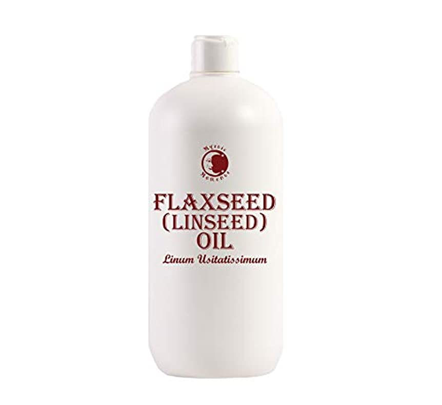 視力不可能な笑Mystic Moments | Flaxseed (Linseed) Carrier Oil - 1 Litre - 100% Pure