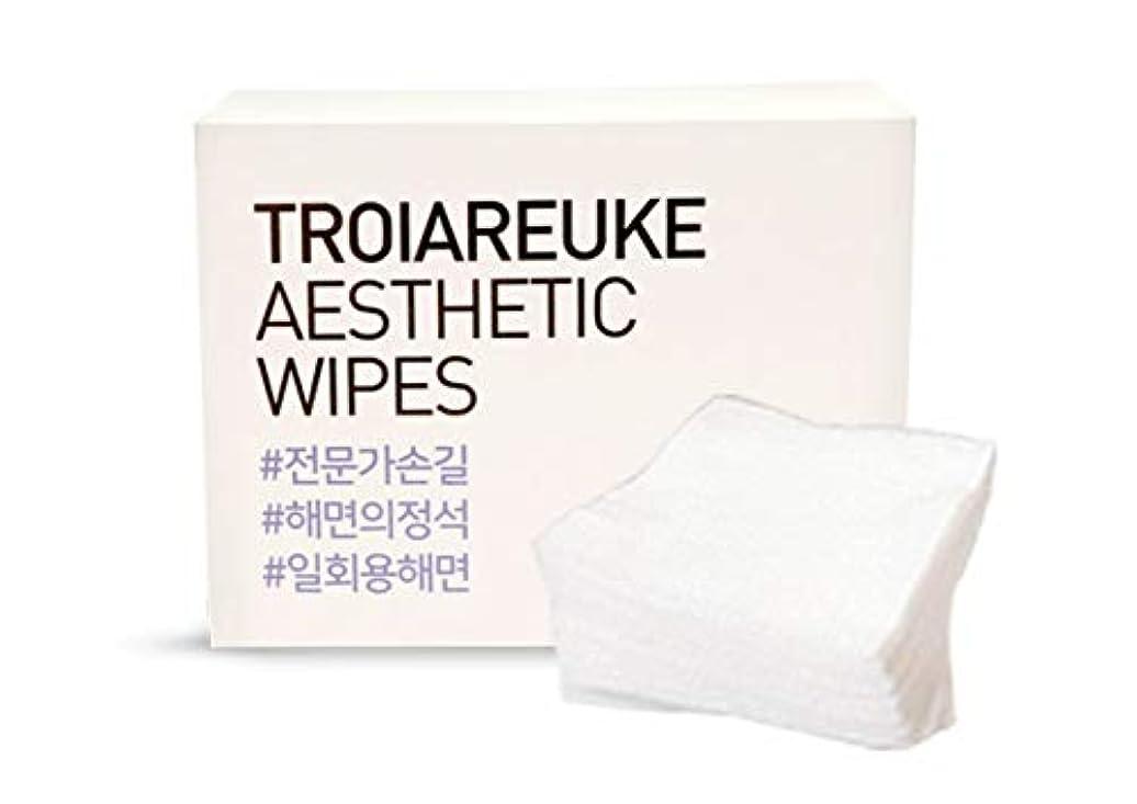 自己尊重葉お父さんTROIAREUKE (トロイアルケ) エステティック 海綿 コットン/Aesthetic Wipes (100枚)