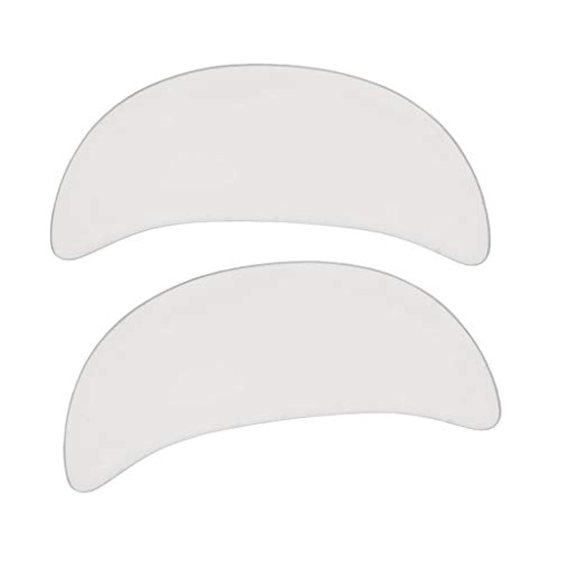 記念剃る疫病dailymall 2 /セットシリコン再利用可能なアンチリンクルアイフェイスパッドスキンケアマスク