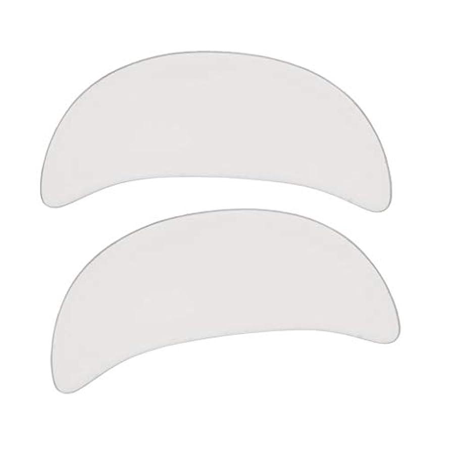交差点負担トークンdailymall 2 /セットシリコン再利用可能なアンチリンクルアイフェイスパッドスキンケアマスク