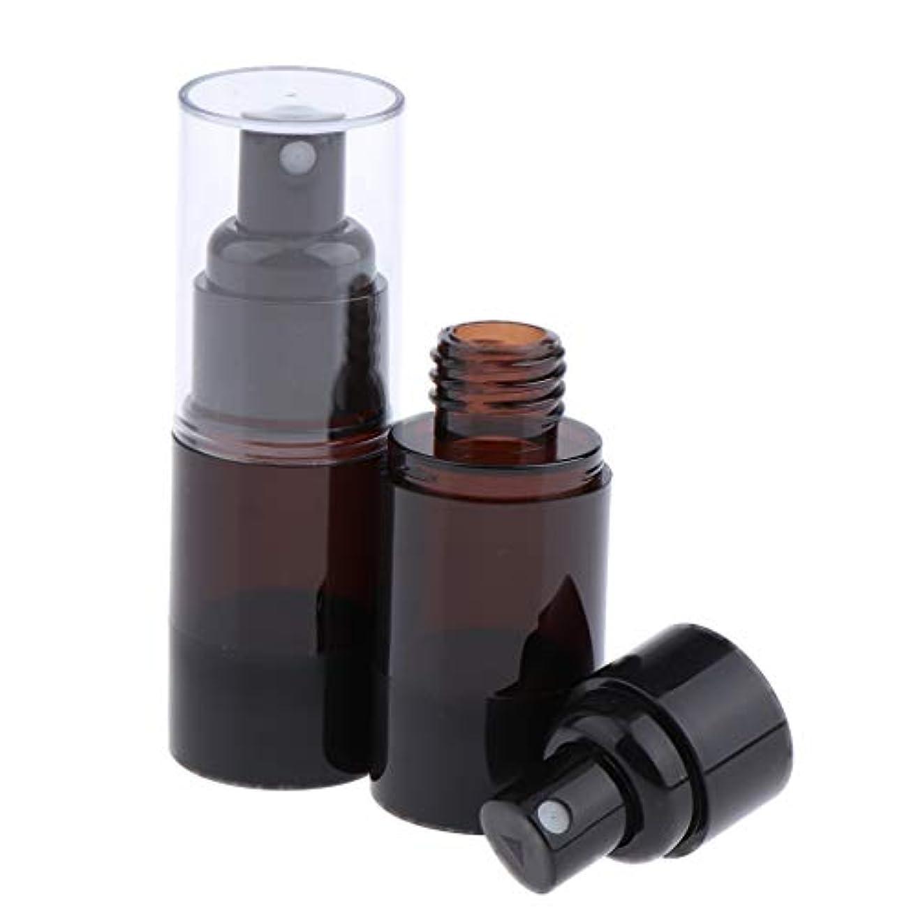 カスケード牛狂信者CUTICATE 無菌エアレス ポンプスプレーボトル 詰め替え可能な 化粧品容器 2本 15ml