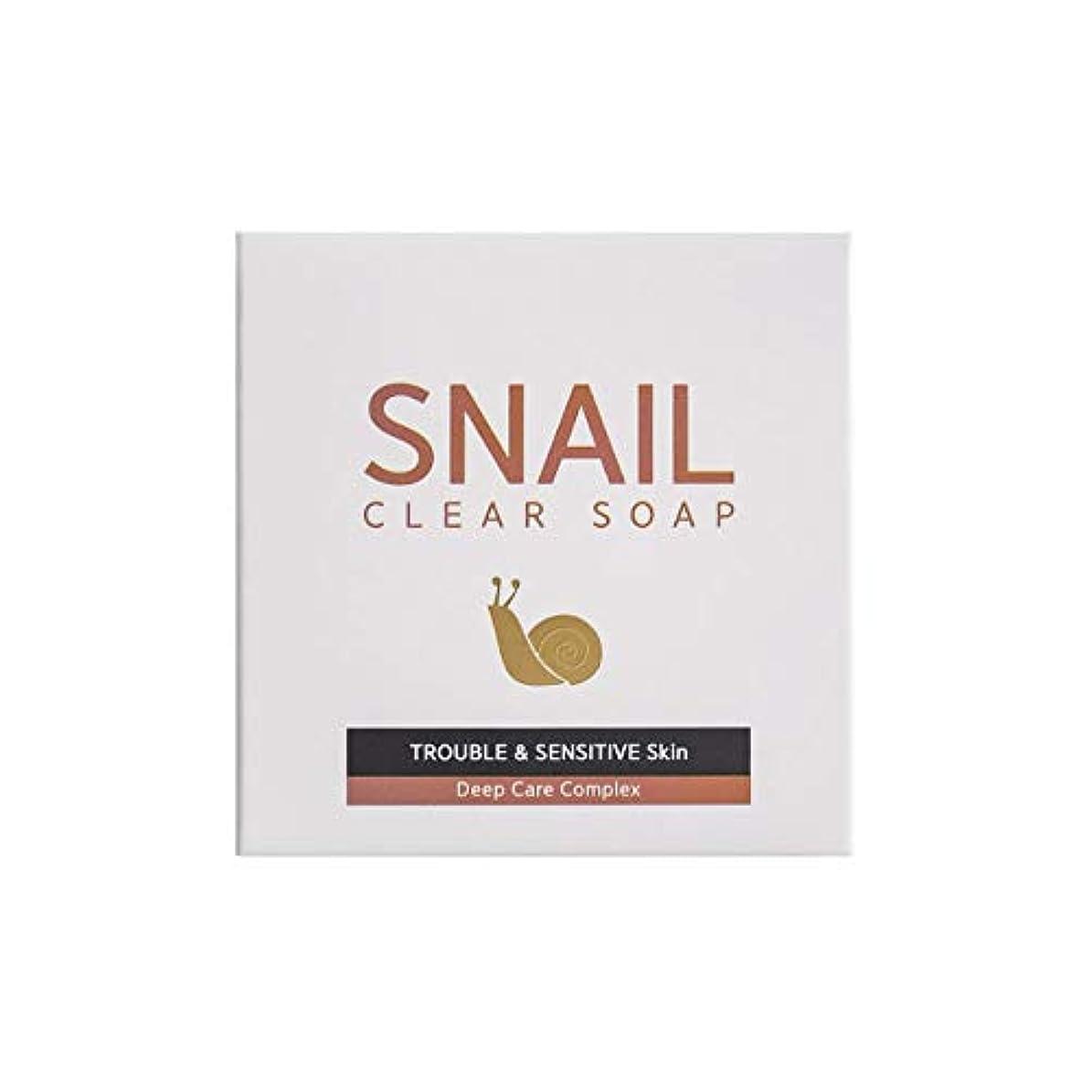 葉っぱ寂しい主導権[RNT International] YUNE25 Snail Clear Soap クリア ソープ 固形 せっけん [並行輸入品]