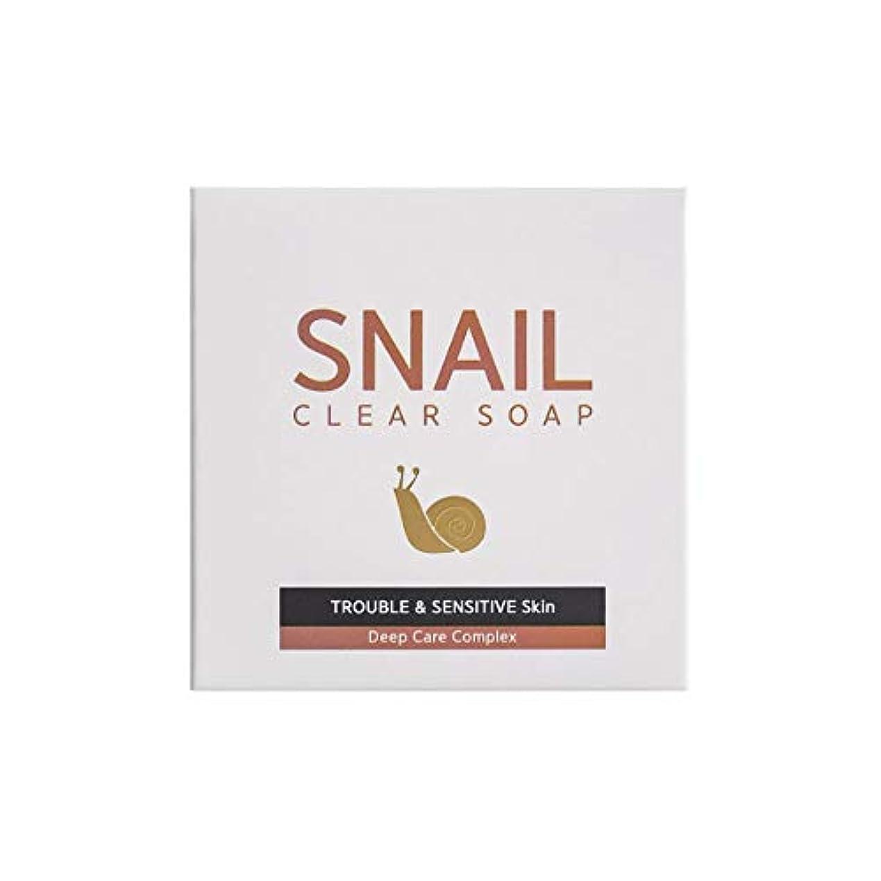 寄託きょうだい平らにする[RNT International] YUNE25 Snail Clear Soap クリア ソープ 固形 せっけん [並行輸入品]