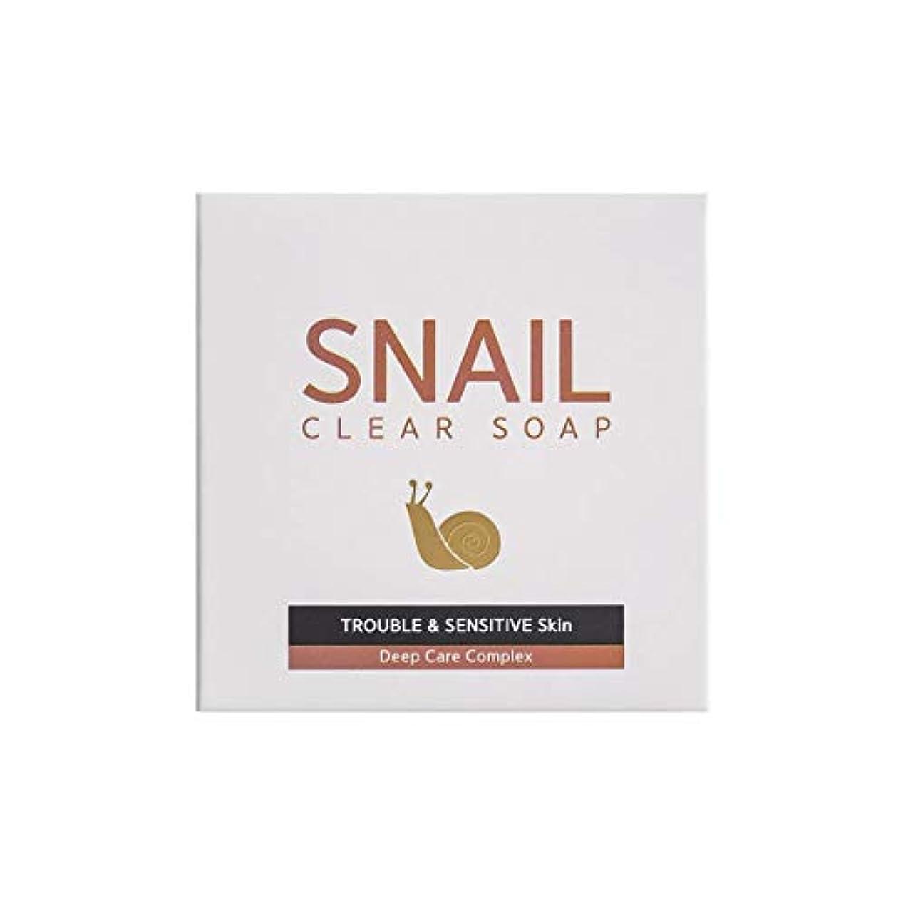 許さない課税切る[RNT International] YUNE25 Snail Clear Soap クリア ソープ 固形 せっけん [並行輸入品]