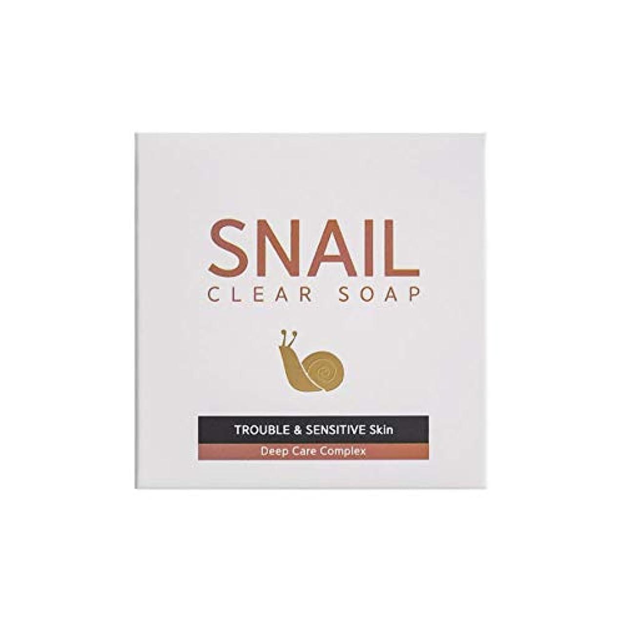 楕円形不規則なまさに[RNT International] YUNE25 Snail Clear Soap クリア ソープ 固形 せっけん [並行輸入品]