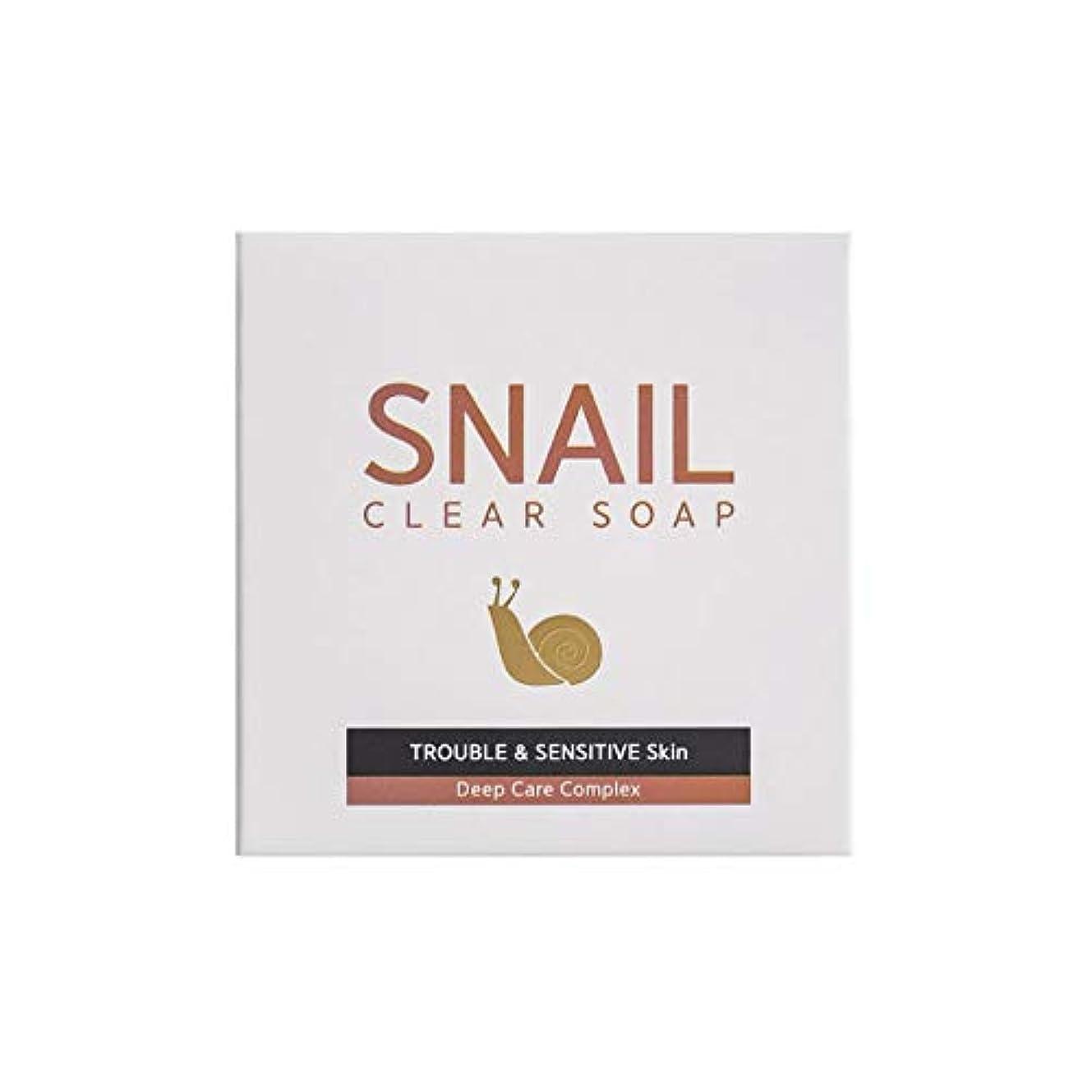 集団的耐久ビーズ[RNT International] YUNE25 Snail Clear Soap クリア ソープ 固形 せっけん [並行輸入品]