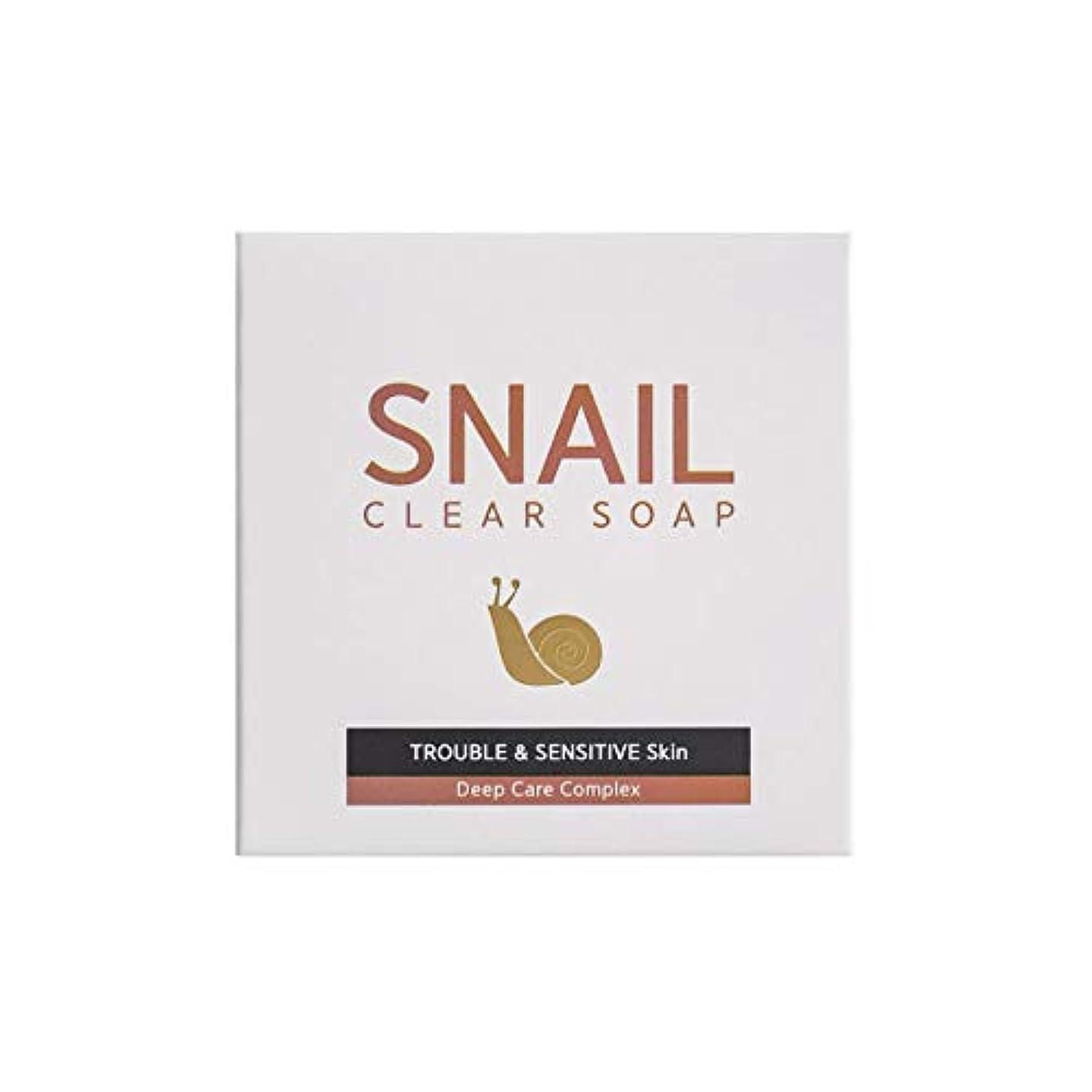店主イヤホンレモン[RNT International] YUNE25 Snail Clear Soap クリア ソープ 固形 せっけん [並行輸入品]