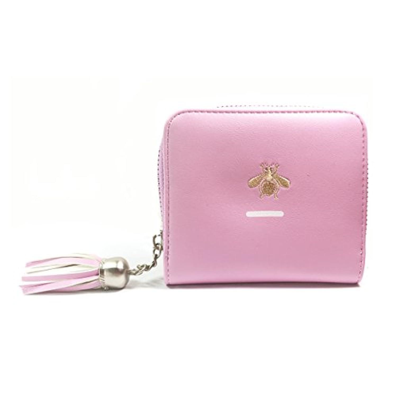 DABURYU.SI 可愛い財布 レディース 二つ折り 花柄 小銭入れ ミニ財布 コンパクト ポーチ カード入れ 多機能 シンプル 上品6色選択可