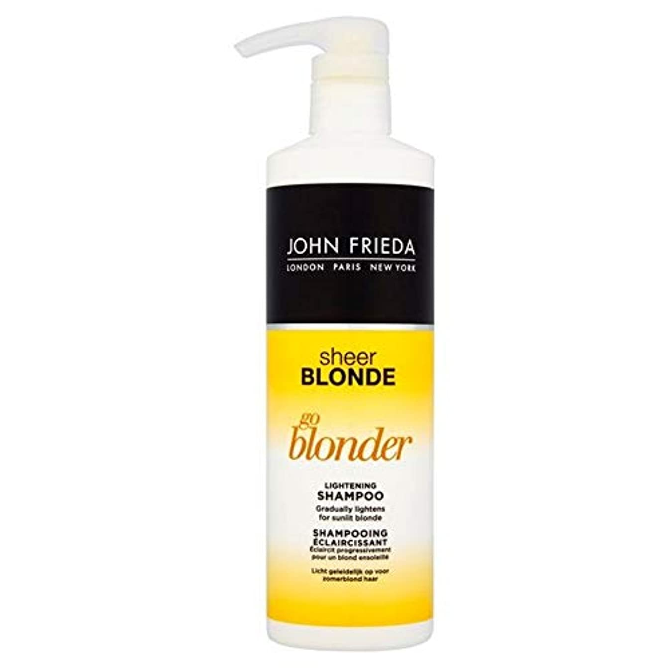 明らか略すクラブ[John Frieda ] シャンプー500ミリリットルを軽減ジョン?フリーダ切り立っブロンド行くBlonder - John Frieda Sheer Blonde Go Blonder Lightening Shampoo...