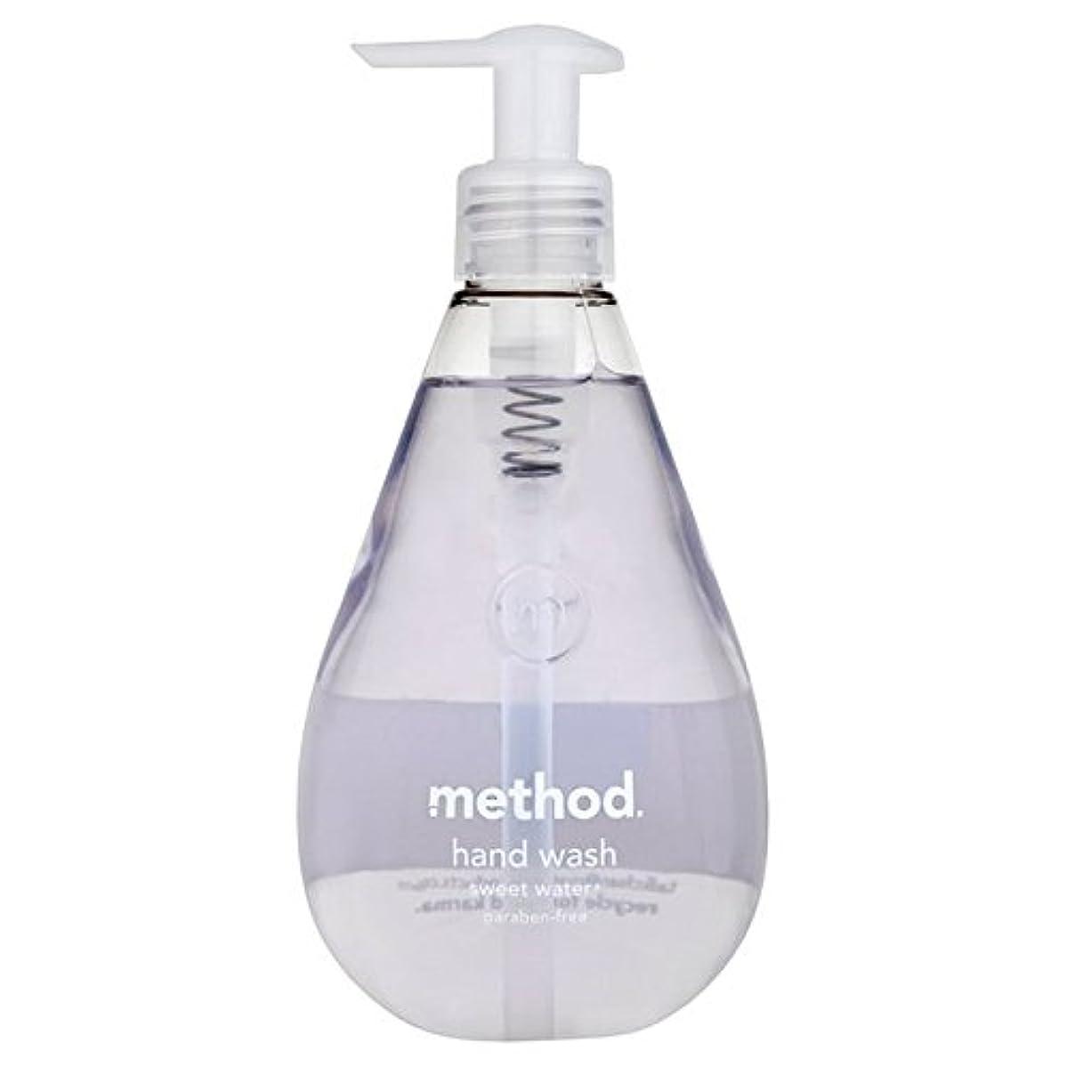 郵便エンドウ素晴らしさメソッドの甘い水の354ミリリットル x4 - Method Sweet Water Handsoap 354ml (Pack of 4) [並行輸入品]