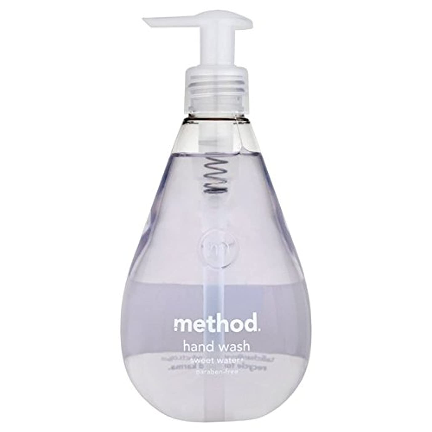 航空機明確にリズミカルなメソッドの甘い水の354ミリリットル x4 - Method Sweet Water Handsoap 354ml (Pack of 4) [並行輸入品]