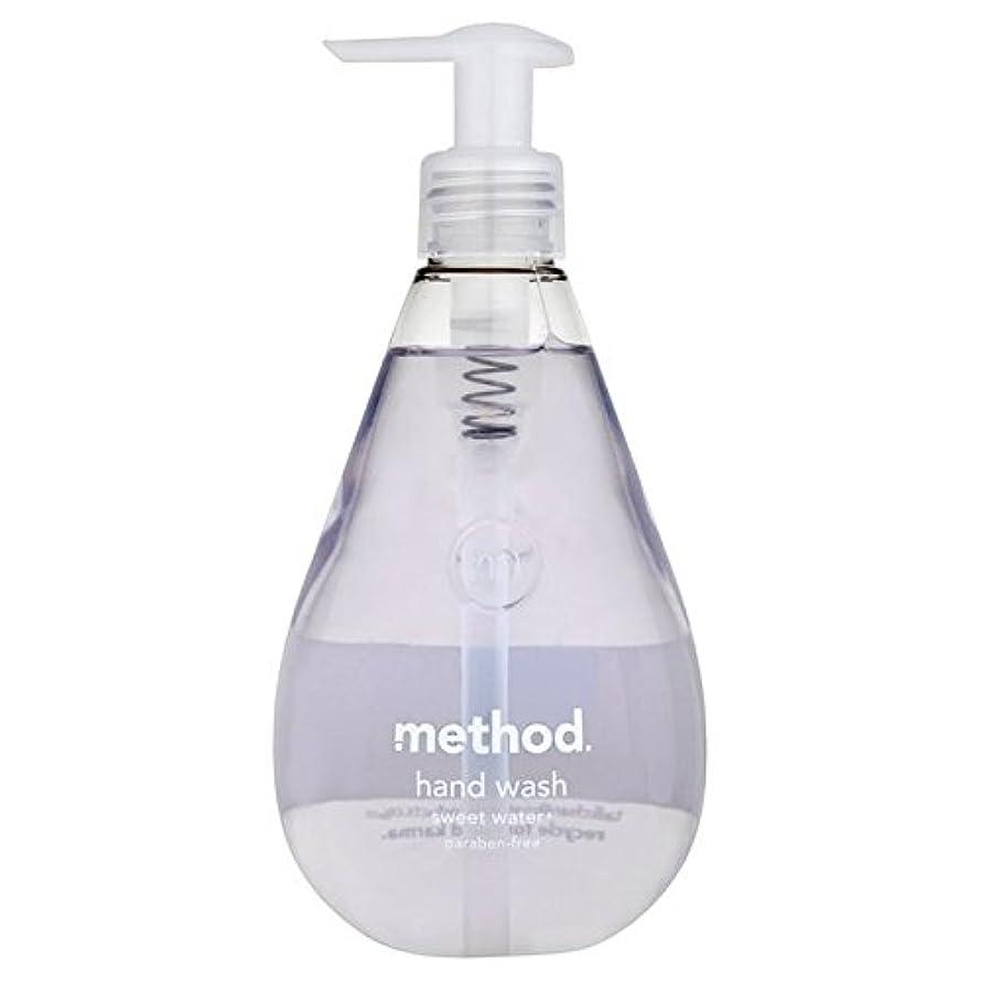 長椅子ヒステリック腐敗メソッドの甘い水の354ミリリットル x4 - Method Sweet Water Handsoap 354ml (Pack of 4) [並行輸入品]