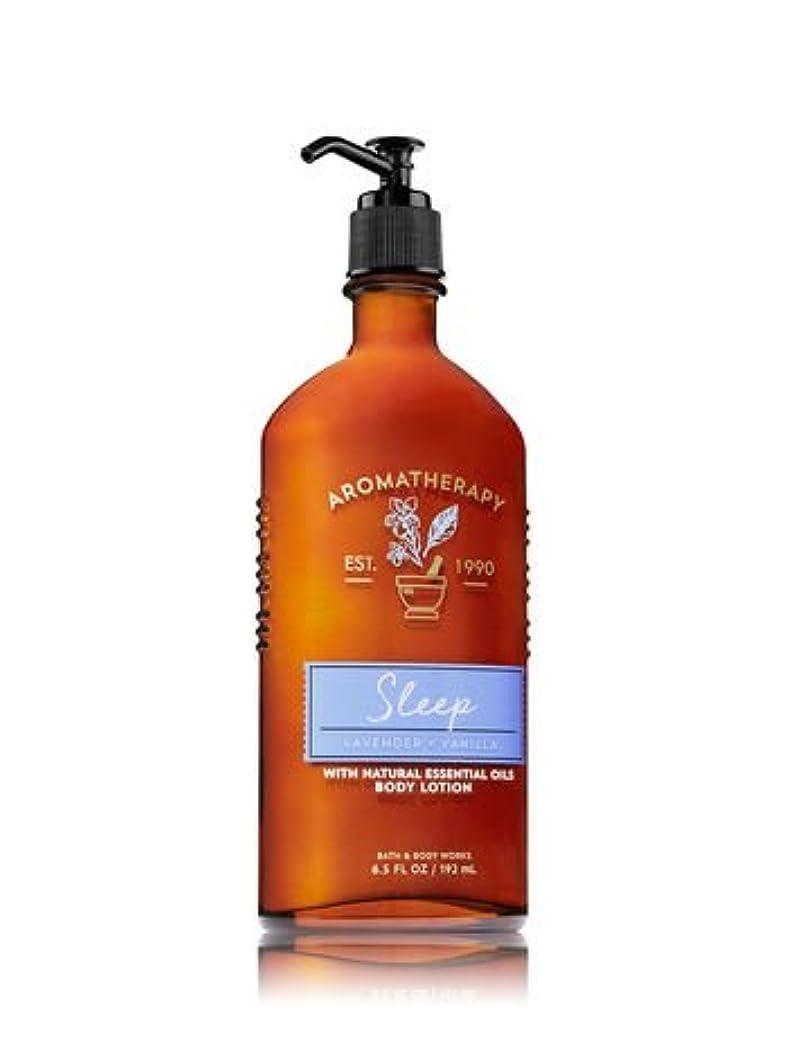 遠いレオナルドダみがきます【Bath&Body Works/バス&ボディワークス】 ボディローション アロマセラピー スリープ ラベンダーバニラ Body Lotion Aromatherapy Sleep Lavender Vanilla 6.5...
