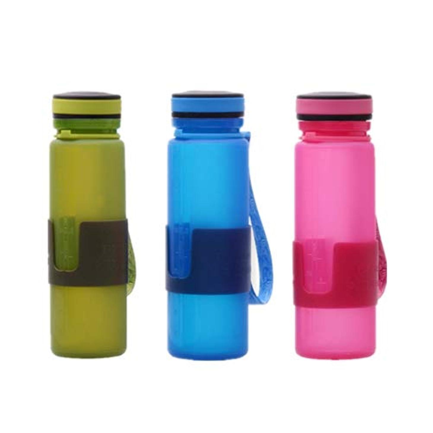 窓分解する小麦多目的17.0オンス折り畳み式マグカップ付き飲料水ウォーターキャンプ旅行屋外ピクニック (色 : Blue+red+green)