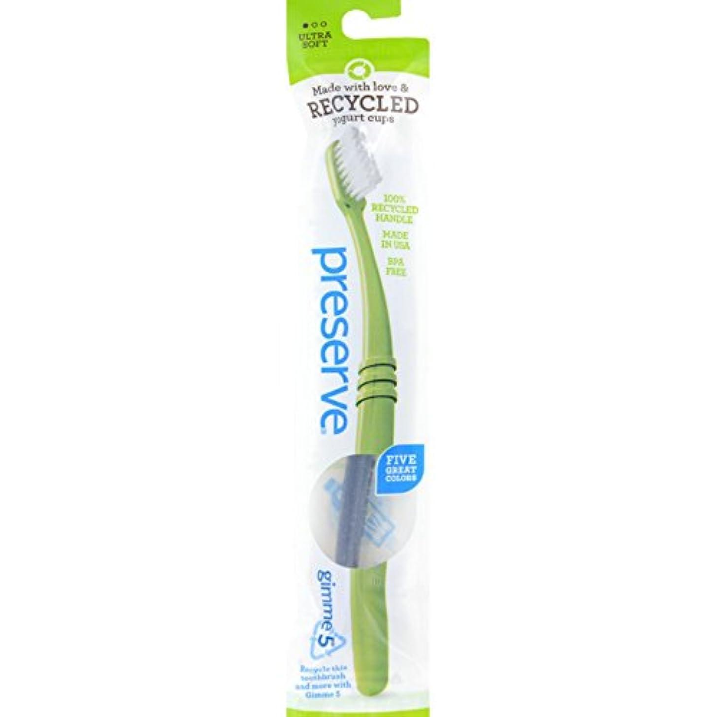 一元化する雇ったメンバーPreserve Adult Ultra Soft Toothbrush (Pack of 6) (並行輸入品)