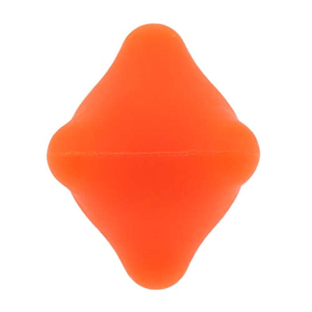 型投げる削る全9色 マッサージボール 指圧ボール 六角 筋膜リリース トリガーポイント 背中 足裏 ストレス解消 - オレンジ, 4.4cm