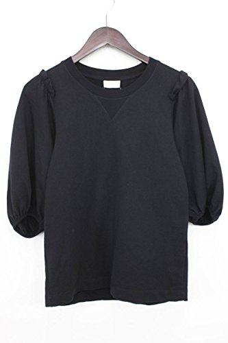(ドリスヴァンノッテン)DRIES VAN NOTEN フリルデザイン5分袖カットソー(XS/ブラック) 中古