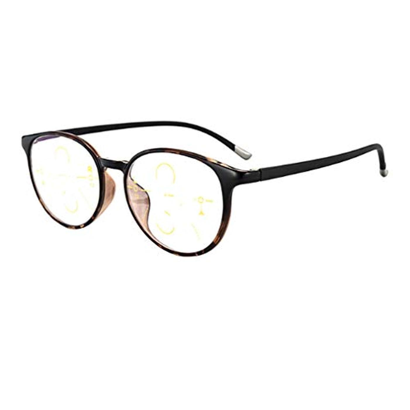 5個の老眼鏡、アンチブルーライトインテリジェントズーム老眼鏡、遠近使用、スタイリッシュな快適なユニセックス老眼鏡+1.5 +2.0 2.5