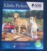 The Art of Linda Pickens Lab Family 550 piece Puzzle [並行輸入品]