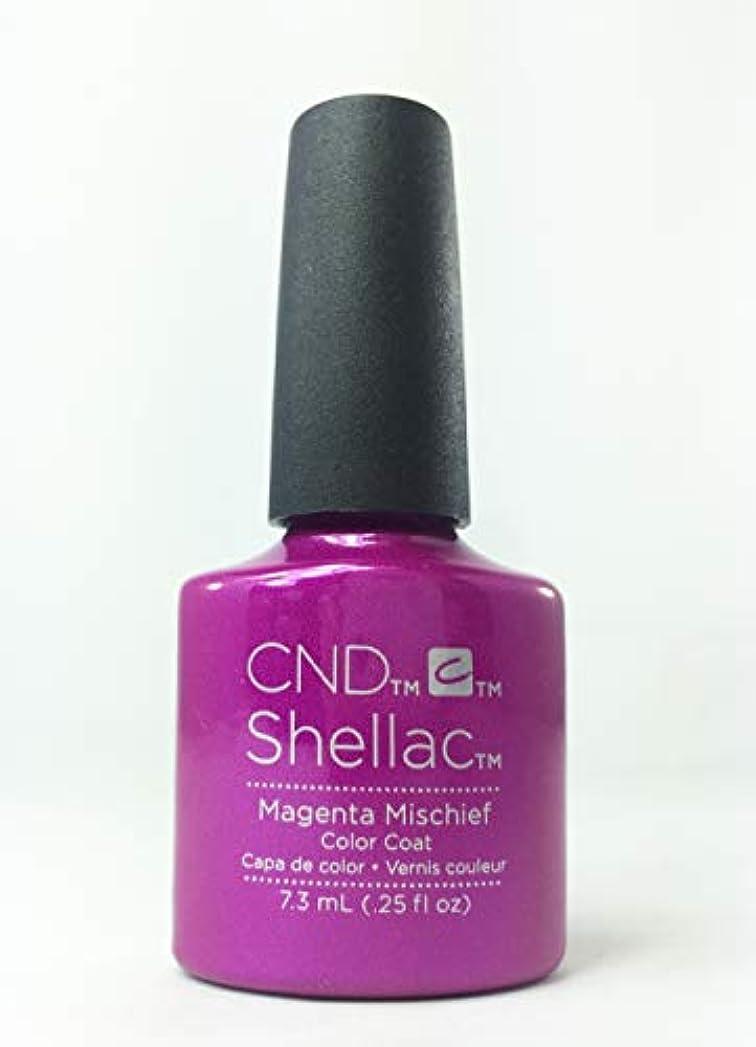 櫛超越するマッシュCND Shellac Polish - Magenta Mischief .25oz / 7.3mL