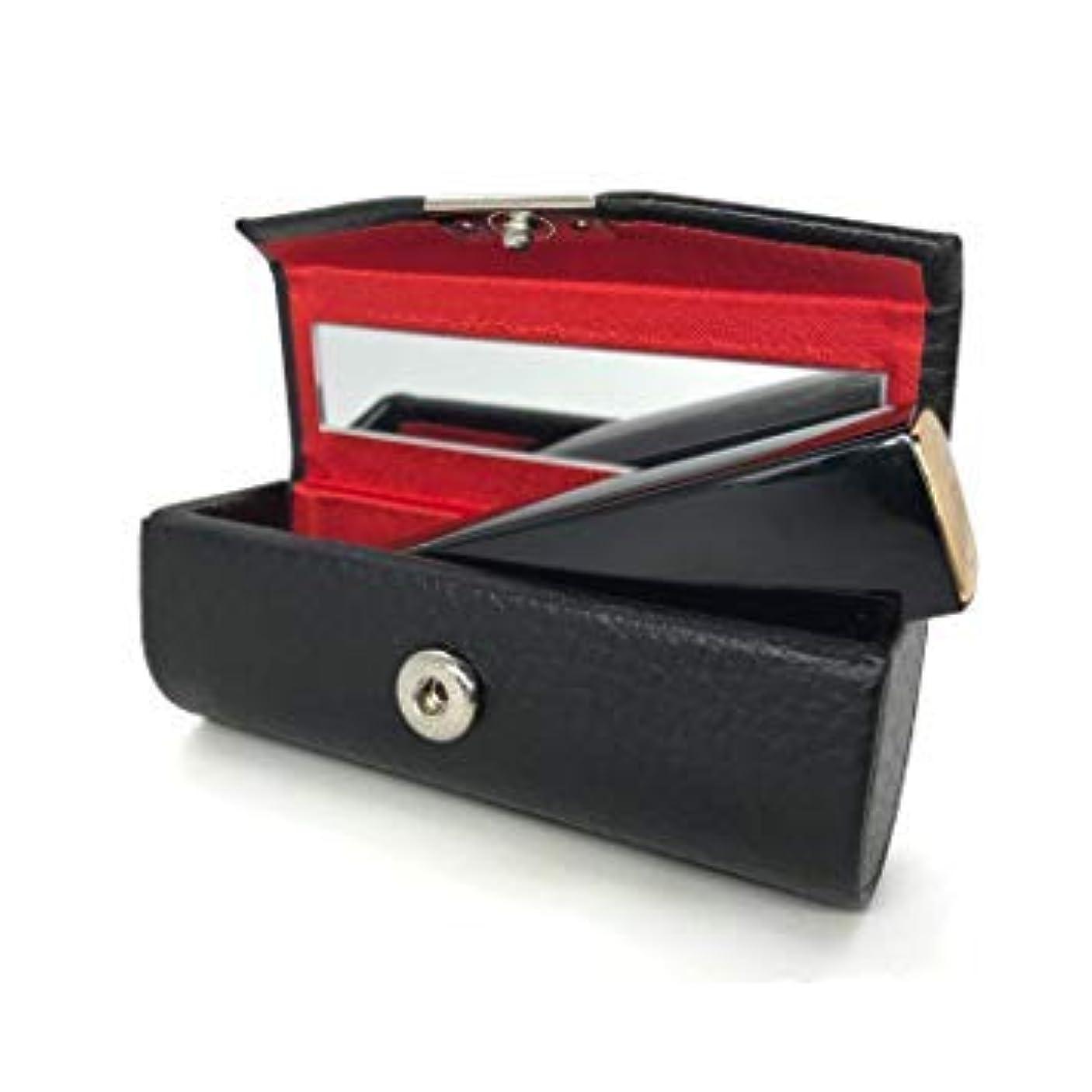 手書き一貫した居眠りするAifusi 財布口紅ホルダー、 ジュエリー収納、粧品収納用ミラーオーガナイザーバッグ付きレザースモールリ