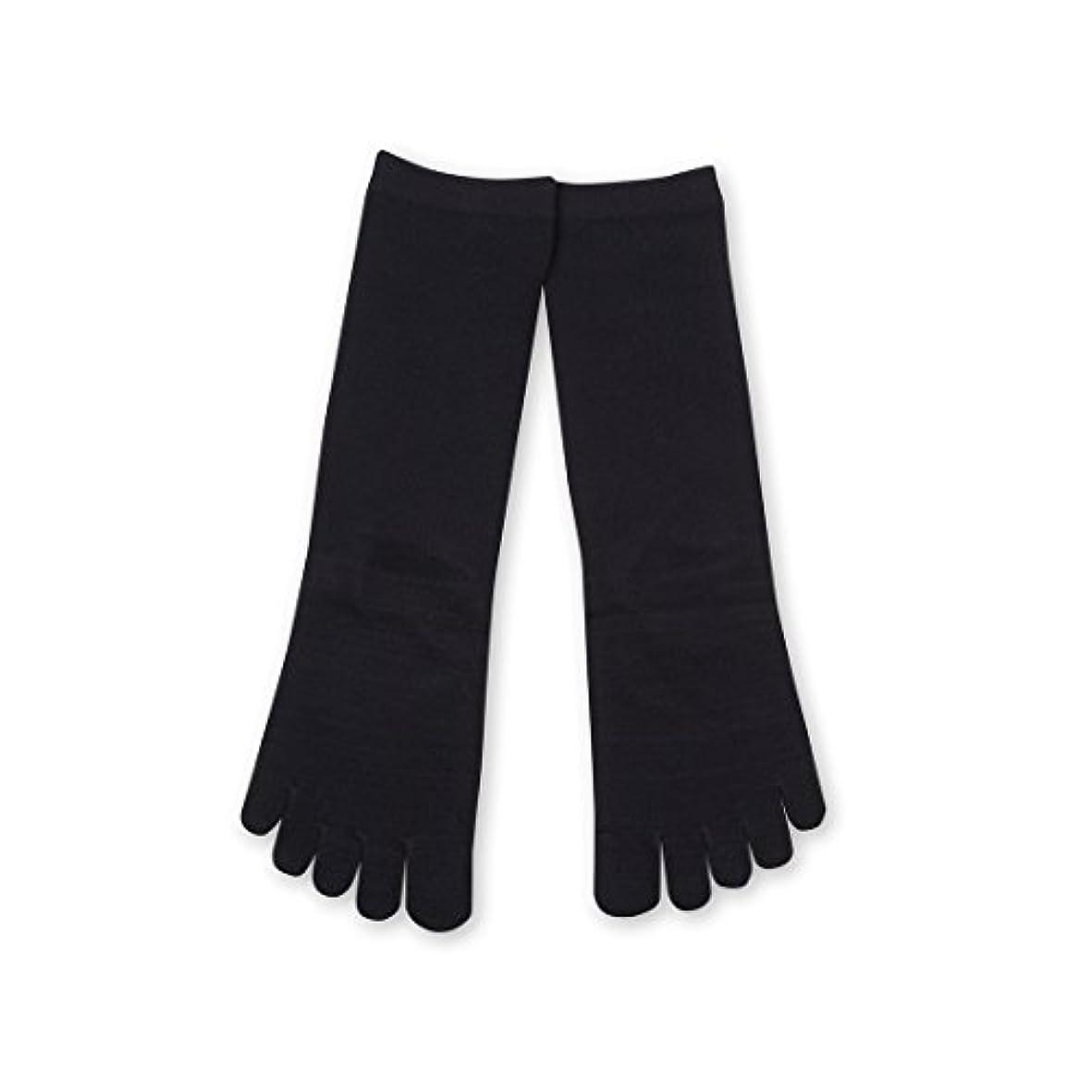 書く人物クーポンDeol(デオル) 5本指 ソックス 女性用 靴下 23~25cm 紺