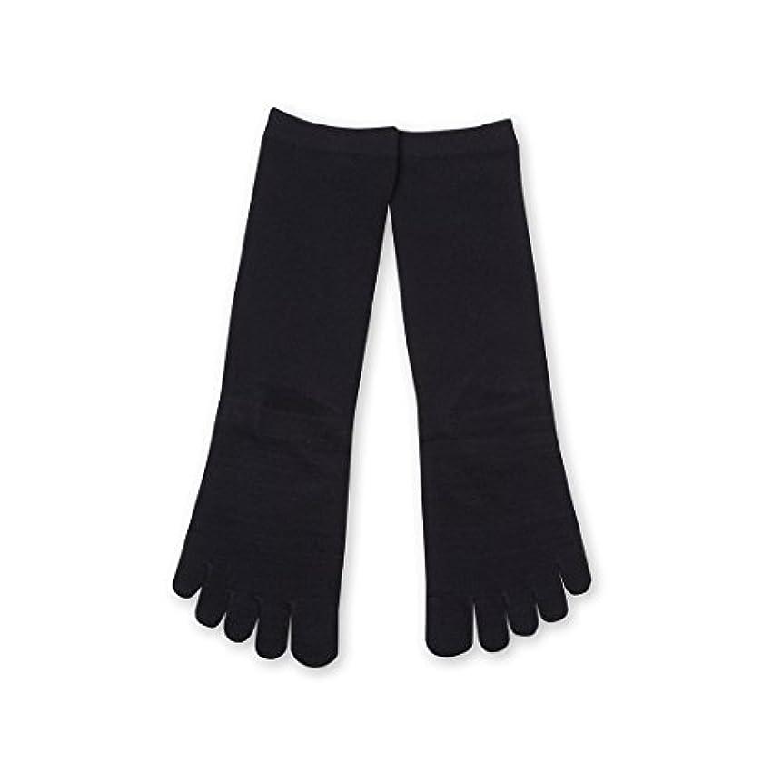 のためノミネート疲労Deol(デオル) 5本指 ソックス 女性用 靴下 23~25cm 紺