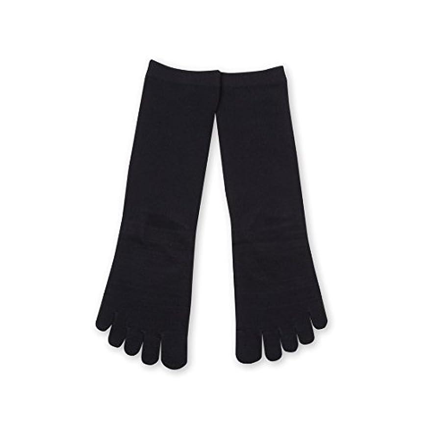 純度対処ヒギンズDeol(デオル) 5本指 ソックス 女性用 靴下 23~25cm 紺