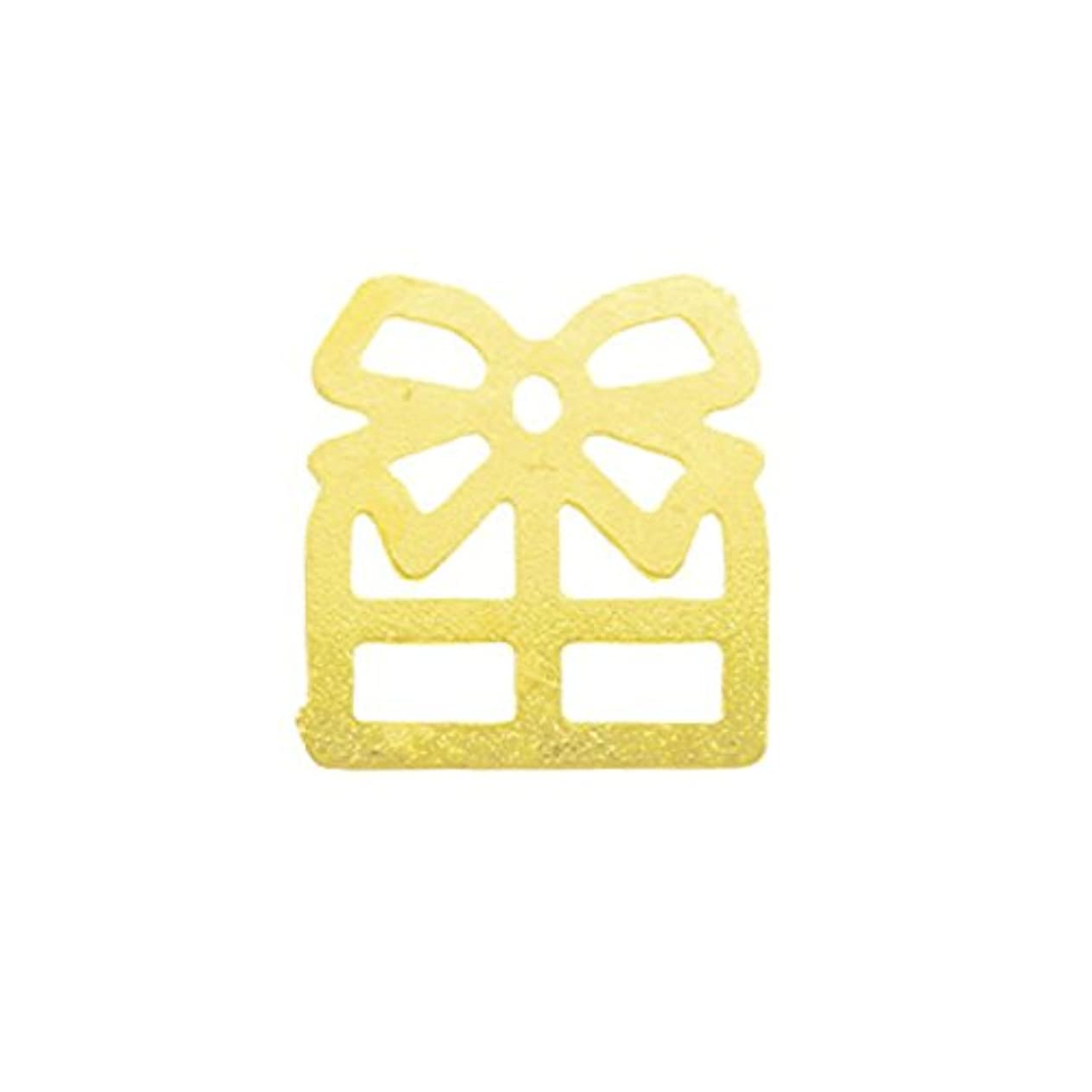 びっくりに変わる軽減するメタルプレート(ネイルストーン デコ) プレゼント ゴールド (30個入り)(ネイル用品)