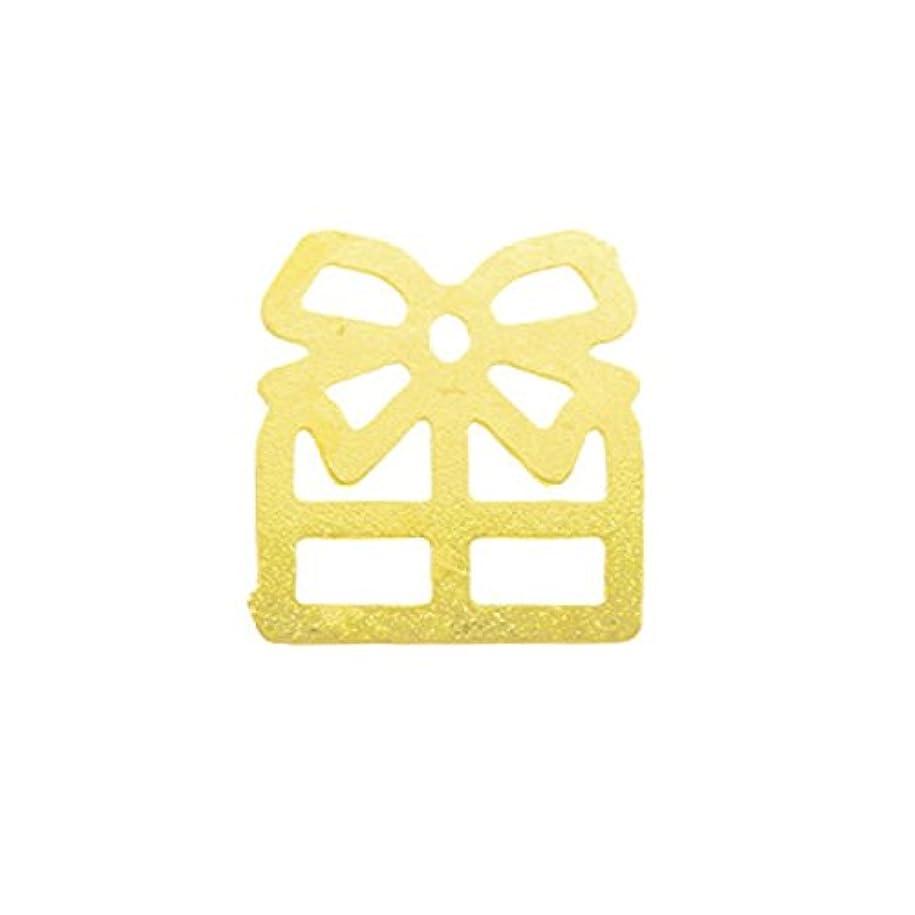 リーズ牽引修正メタルプレート(ネイルストーン デコ) プレゼント ゴールド (30個入り)(ネイル用品)