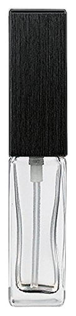 空白配送クロニクル16494 メンズアトマイザー 角ビン クリア キャップ ヘアラインブラック